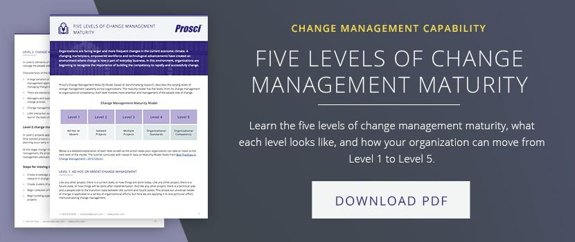 Five Levels of Change Management Maturity article
