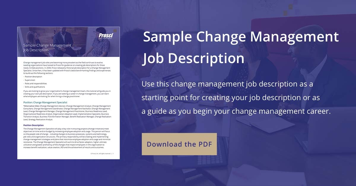 change management job description