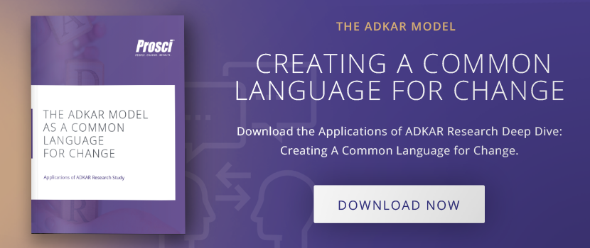 "Download ""the ADKAR Model as a Common Languange for Change"""
