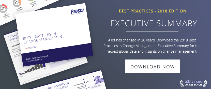 Best Practices in Change Management - 2018 Edition Executive Summary
