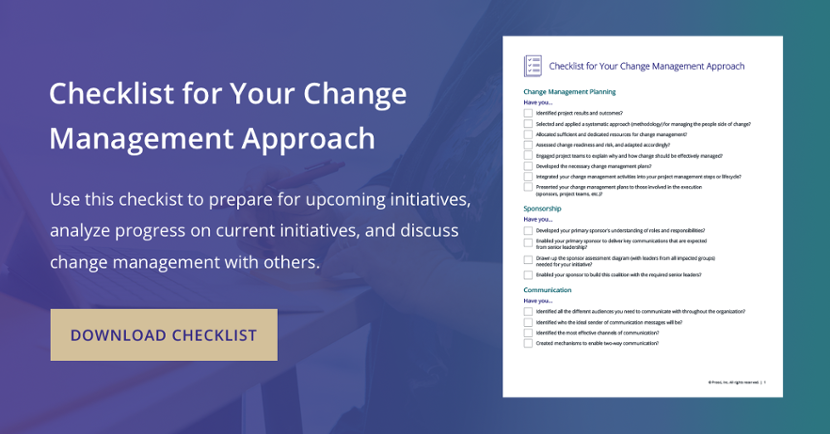 Checklist for Your Change Management Approach